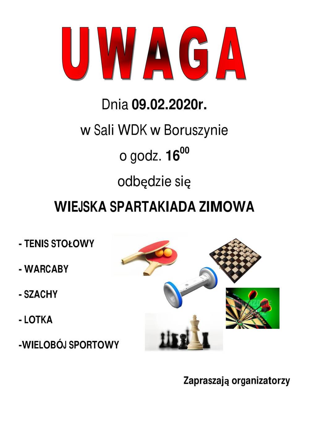 Wiejska Spartakiada Zimowa Boruszyn 2020